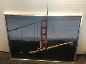 PRICE REDUCED Large framed print of Golden Gate Bridge