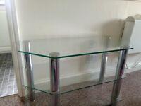 Glass table unit