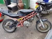 two motorbikes, honda and sachs 125's honda running, sachs needs engine rebuild
