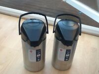 Large pump action hot / cold drinks dispensers