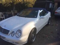 Merc CLK Convertible in white, personal plated, MoT & Tax expire Aug 31st.Merc serviced. all works.