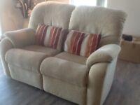 G Plan reclining two seater sofa