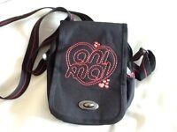 Animal Black Fabric Cross Body Bag