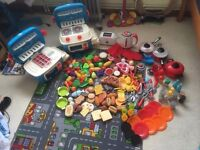 Massive Bundle Of Play Food and 2 Portable Play Kitchens (252 PIECES!!!)