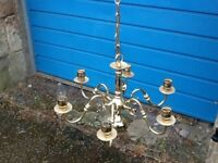 Lovely brass light fitting, has modern wiring and is now surplus to our requirements