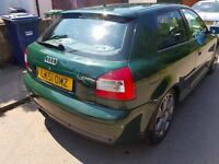 Audi S3 1.8T GREEN 2001 K04 CAR NEEDS TO BE GONE BARGAIN (PX CORSA POLO GOLF)
