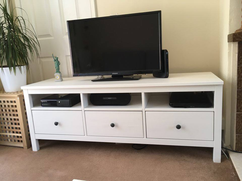 ikea hemnes tv bench tv stand tv unit white in