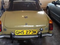 MGB coupe Roadster Body Type C one owner