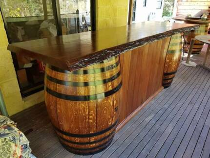 Wine Barrel Bar (Built to size)