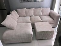 🔥🚙 BRAND NEW DYLAN JUMBO CORD CORNER AND 3+2 SEATER SOFA IN DIFFERENT COLORS AVAILABLE 🚙🔥