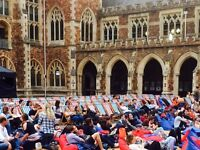 Event Staff Required - Cult Screens Open Air Cinema