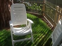 4 garden chairs with cushions