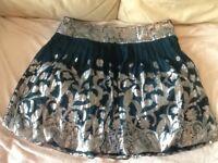 Silk skirt - size 16, Warehouse, nearly new