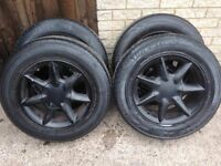 """ronal 15"""" alloys 5x112 pcd come with good 205/65/15 tyres fit vw t4 transporter/audi/mercedes.."""