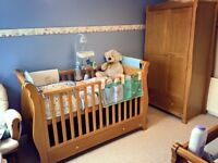 3 Piece Nursery Set Oak