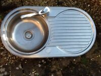 stainless steel Sink with drainer and tap £10 buyer collects