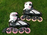 Childs adjustable in line skates