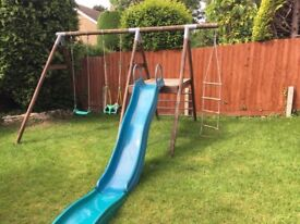 TP wooden slide and swing