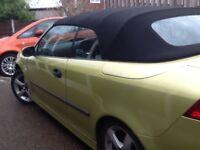 Saab convertible £1500.00.