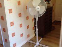 "Lloytron 16"" pedestal standing white fan 5 months old"