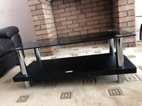 "42"" Glass Black TV Stand"