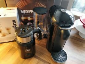 Nespresso Vertuo coffee machine + Lavazza milk frother NEARLY NEW