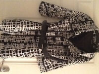 Black & White Cotton Coat