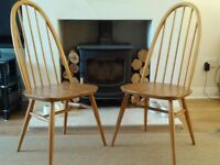 Ercol dining chairs x 2