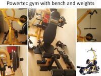 PowerTec Gym with bench & weights