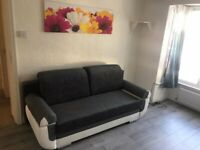 2 x Brown / Beige , 1 x Grey 3 Large Sofa Bed with Storage Container Sleep Function Bonell Springs