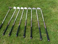 Ladies left hand golf clubs and carry bag