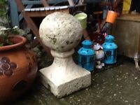 Large stone finial