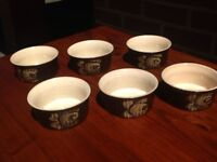 Vintage Denby Bakewell - 6x ramakins/soufflé dishes