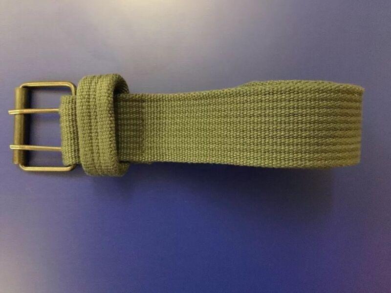 Jet Lag Belt Green Cotten Woven Men's Sz 36-38