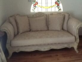 3 seater 2 seater and chair and 2 tables that match sofa suite