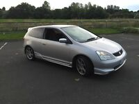 2003/53 HONDA CIVIC TYPE R,F/S/H UP TO 100K,POSS P/EX,PLEASE NO OFFERS REDUCED AS TO MANY MESSERS