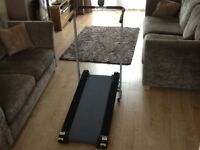 Pro fitness folding manual treadmill