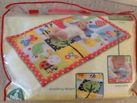 ELC padded play mat with mirror rattle and crinkle sounds