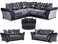 LARGE CORNER BRAND NEW STYISH SOFA SAME DAY DELIVERY ALL OVER LONDON AND KENT OFFER WITH FOOTSTOOLS