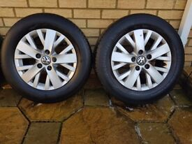 Genuine VW T5 T6 Alloys with tyres