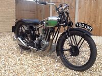 Royal Enfield 1932 350 cs deluxe sloper extremely rare investment