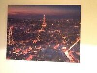 Large canvas. Eiffel Tower/Paris skyline