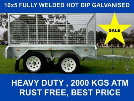 10x5 FULLY WELDED  HOT DIP GALVANISED TRAILER 2000 KG GVM Dandenong South Greater Dandenong Preview
