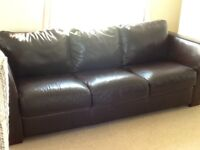 leather large brown sofa originally from Furniture Village