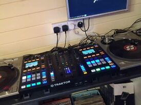 Traktor Z2 DJ/DVS mixer and 2x D2 controllers. Will swap for serato setup.