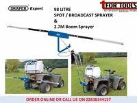 Draper Expert 98L 12V DC ATV Spot / Broadcast Sprayer & 2.7M Boom Sprayer
