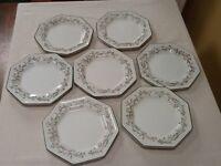 7 Eternal Beau Tea Plates