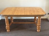 Farmhouse style solid wood dining table