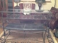 Bespoke Hall/Lounge/bedroom glass topped table £120 REDUCED