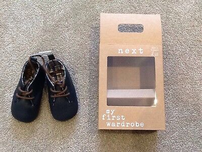 Next Baby Leather First shoes Navy Size2 Brand New